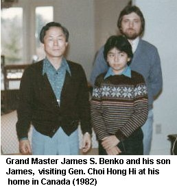 Gen. Choi Hong Hi and Grand Master James S. Benko